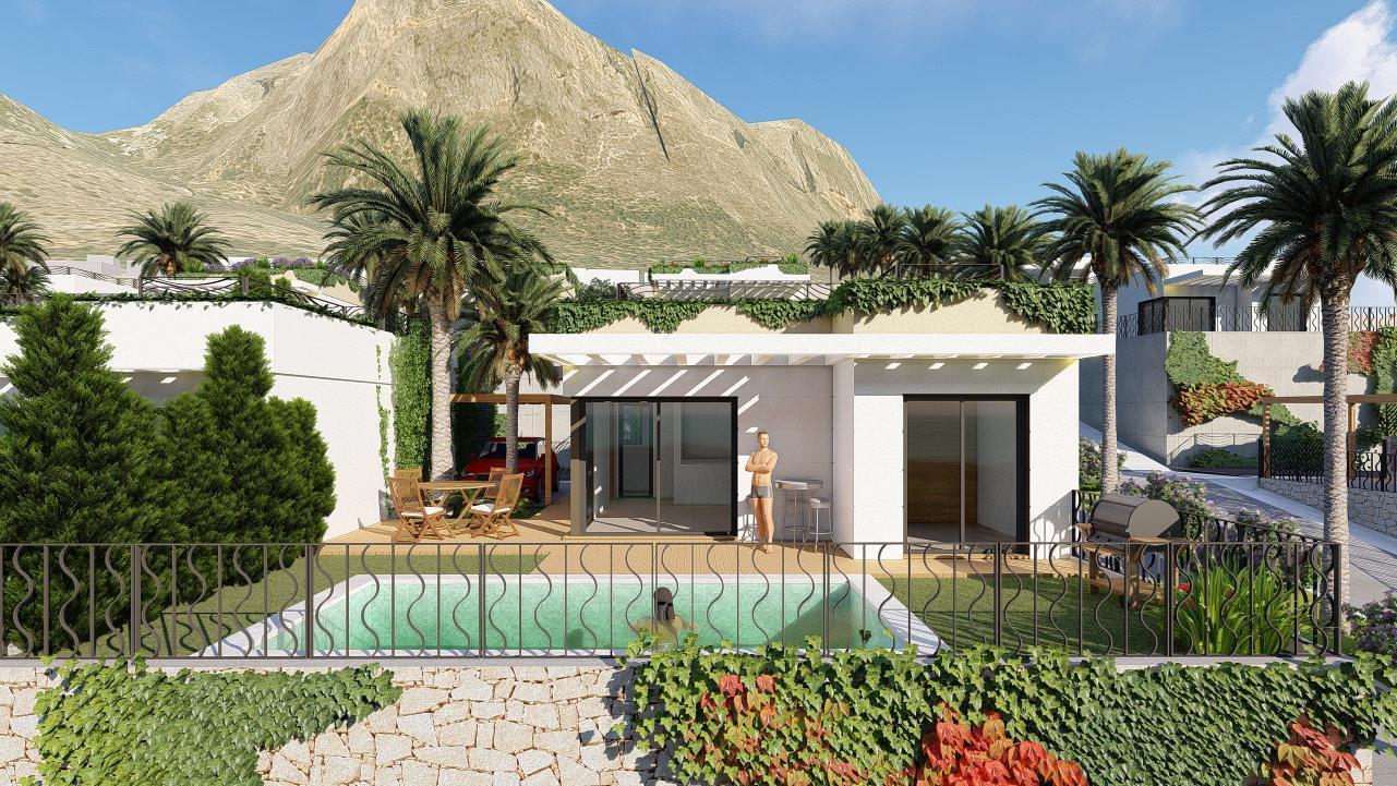 Chalet en Polop de nueva construccion con vistas al mar y montaña