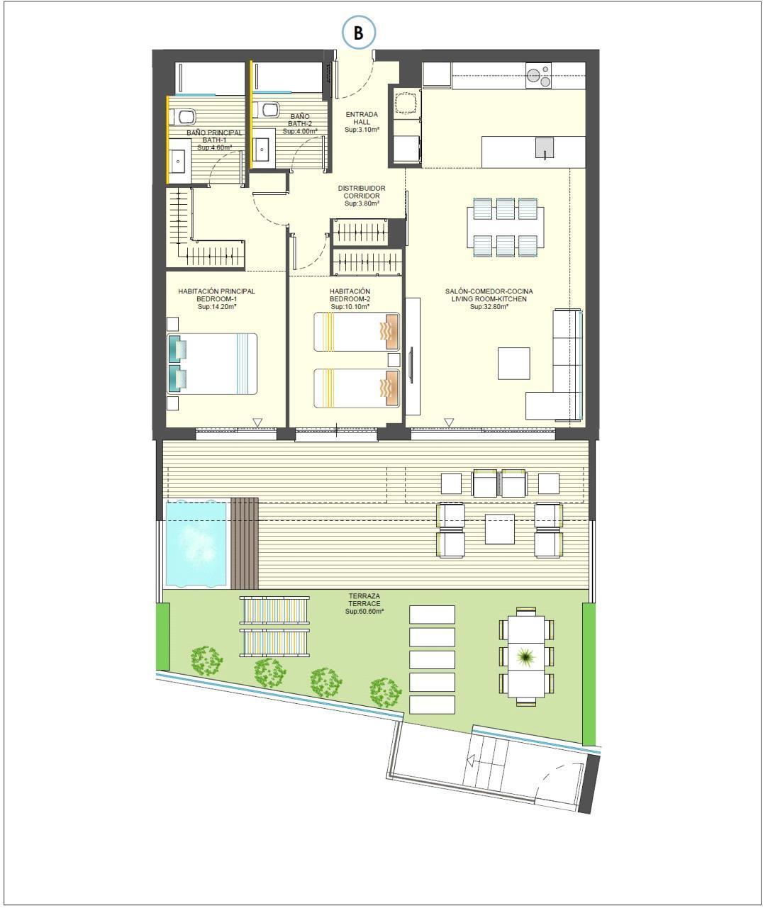 Apartamento en Finestrat a estrenar
