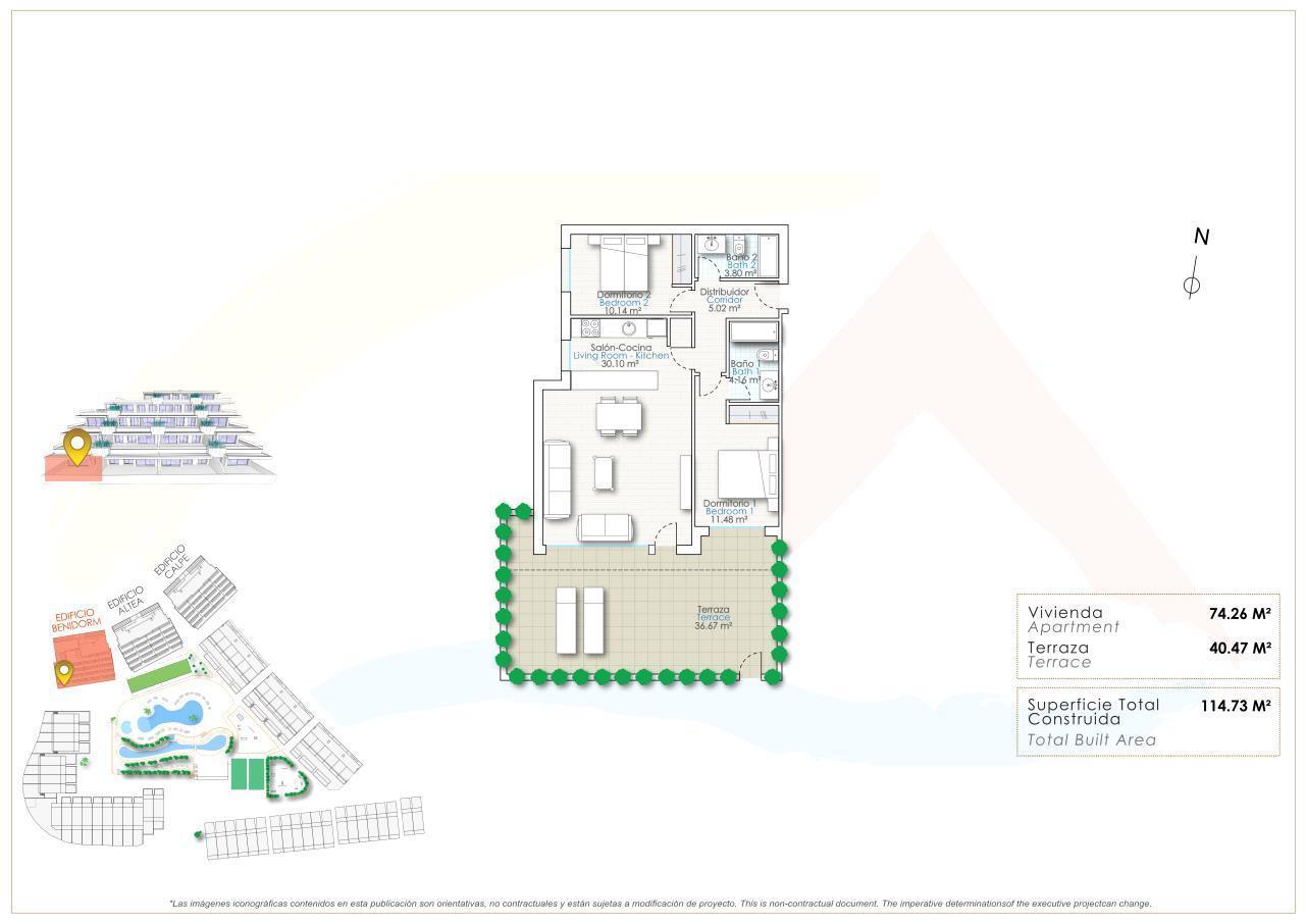 Apartamento en planta baja en Finestrat